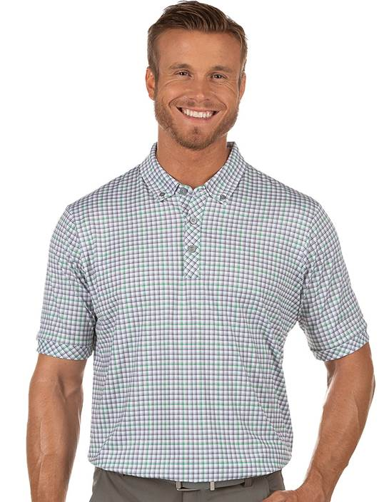 104381-95H - Expert White/Skyscraper/Lucky (Mens Shirts Polo)