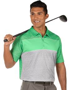 104383-12I - Advocate Lucky Heather/Mint/Skyscraper Heather (Mens Shirts Polo)