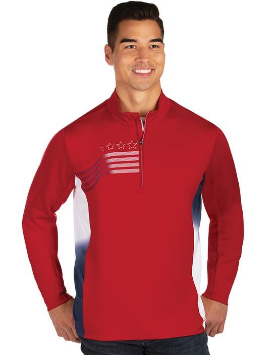 104390 - Liberty Pullover Dark Red/White/Navy
