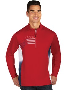 104390-359 - Liberty Pullover Dark Red/White/Navy (Mens Outerwear Pullover)